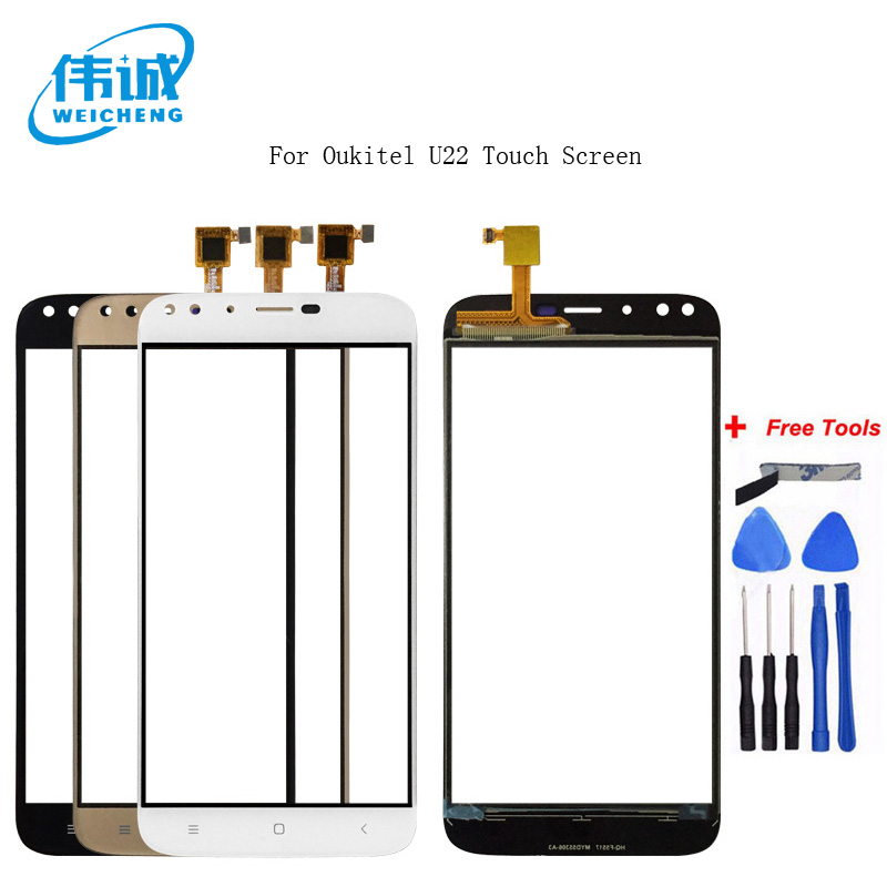 WEICHENG For Oukitel U22 Touch Touch Screen Touch Panel Sensor Black/White/Gold Colors Phone Repair