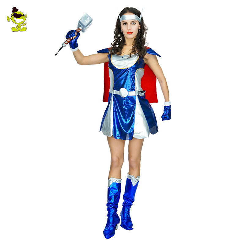 Thor Woman Costume Girl's Superhero Cosplay American Captain Avengers Superman Costumes Girls Party Gown Clothes