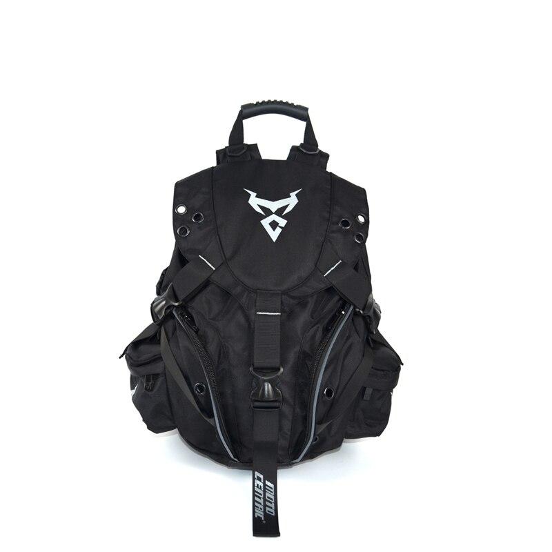 Motocross Backpack Reflective Helmet Bag Net Bag Universal Multifunction
