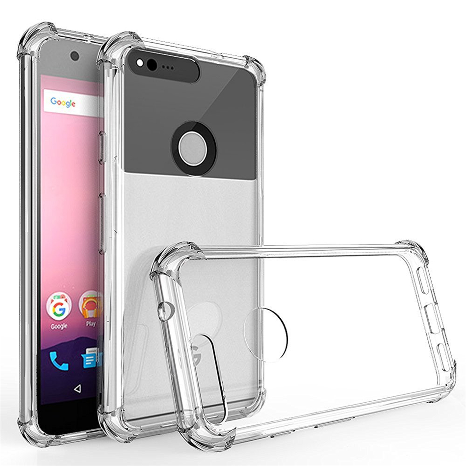 For Google Pixel 1 2 3 XL Lite Air Cushion Case Clear Crystal Soft Silicone Silicon TPU Shockproof Full Protection Phone Cover