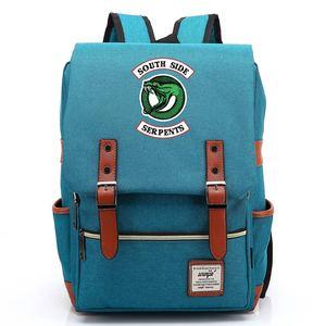 Image 5 - 스네이크 팝의 chocklit shoppe Riverdale 소년 소녀 학생 학교 가방 청소년 Schoolbags 캔버스 여성 Bagpack 남성 벨트 배낭