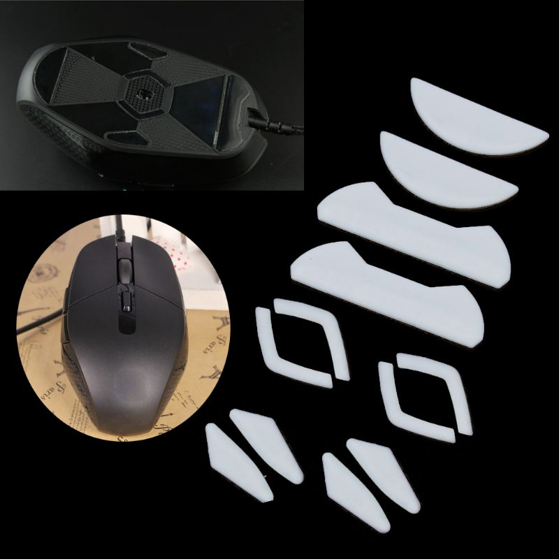 2 Sets/pack Tiger Gaming Mouse Feet Mouse Skate For Logitech G302 G303 White Teflon Mouse Glides Curve Edge
