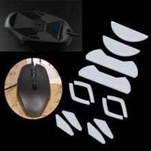2 takım/paket kaplan Gaming Mouse ayaklar fare paten Logitech G302 G303 beyaz fare kayar eğri kenar