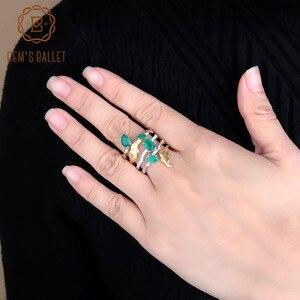 Image 3 - GEMS בלט 2.26Ct טבעי ירוק אגת חן אצבע טבעות 925 סטרלינג רסיס אופנה להקת טבעת לנשים מתנות