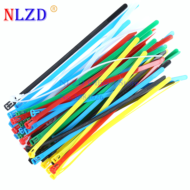 """20pcs 4/"""" 8/"""" 10/"""" 12/"""" 16/"""" 20/"""" Cable Ties Nylon Wrap Zip Ties Fastening Cables Wire"""
