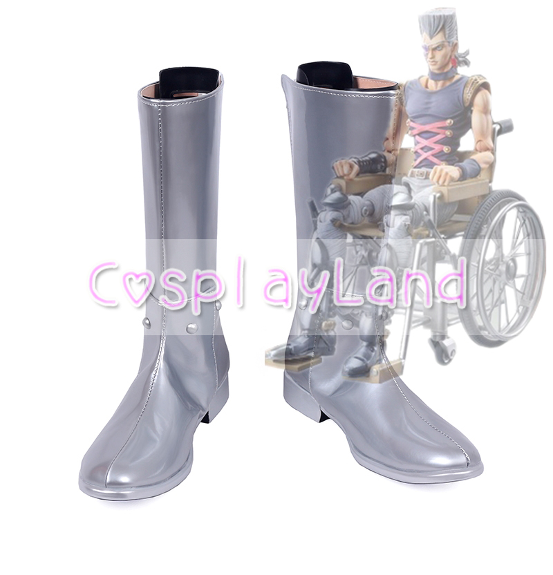 JoJos Bizarre Adventure Jean Pierre Polnareff Cosplay Boots Shoes for Adult Men Shoes Ac ...