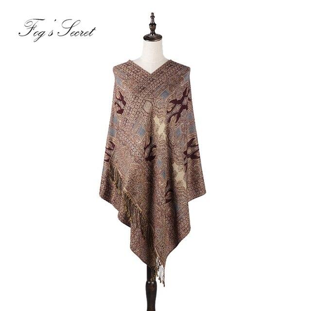 Bufanda grande del patrón del Palacio de la India de la flor de la impresión elegante de las mujeres de la pashmina del voor de los sjaals del 2019