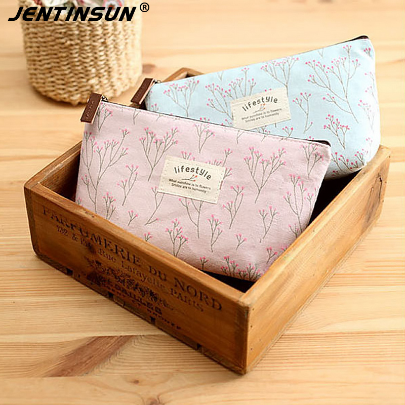 Portable Canvas Floral Cosmetic Bag Travel Toiletry Kits Wash Makeup Storage Pouch Bags Organizer Make Up Case For Women Neceser japanese pouch small hand carry green canvas heat preservation lunch box bag for men and women shopping mama bag