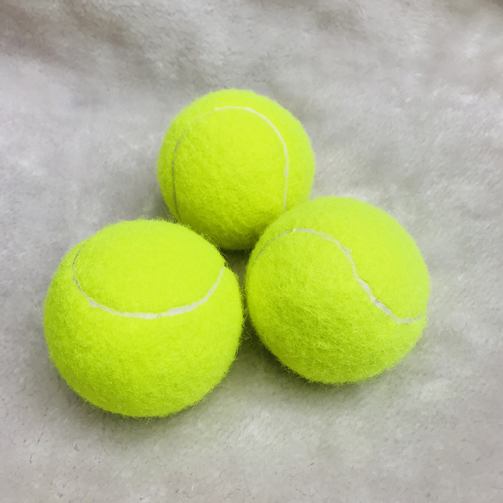 3PCS Yellow Tennis Training Balls Fluorescent Professional Good Elasticity Tennis Ball Practice Competition Training Exercises
