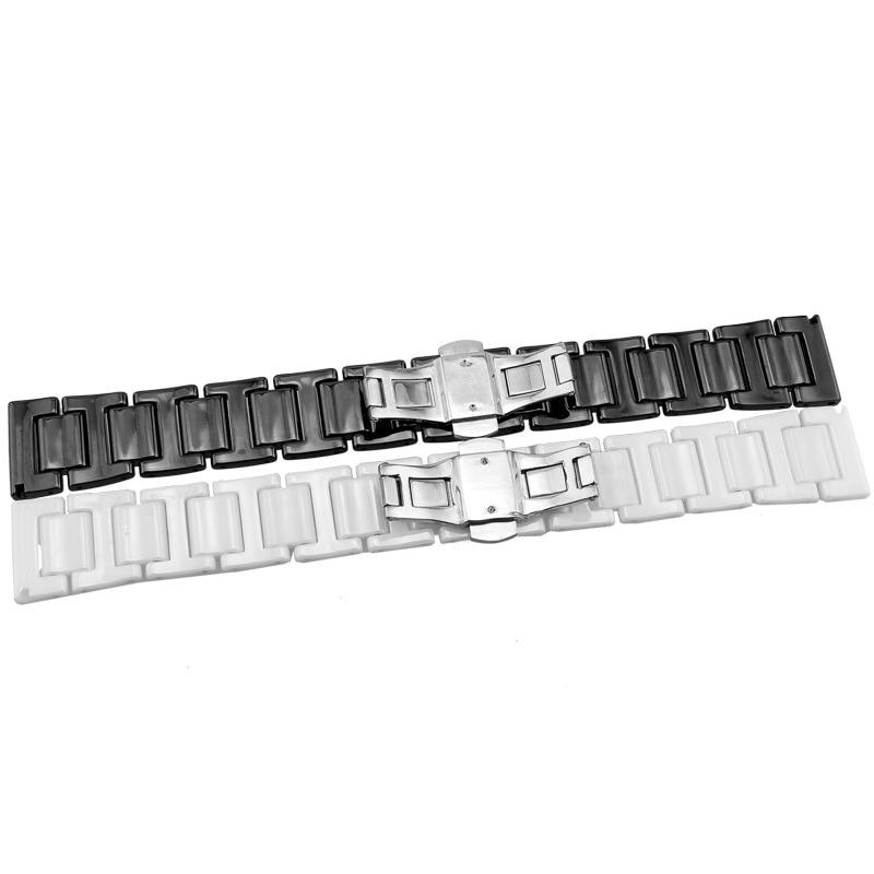 20mm 22mm Watchband Seramik Kayış Samsung Dişli S3 Üç Linkler - Saat Aksesuarları - Fotoğraf 6