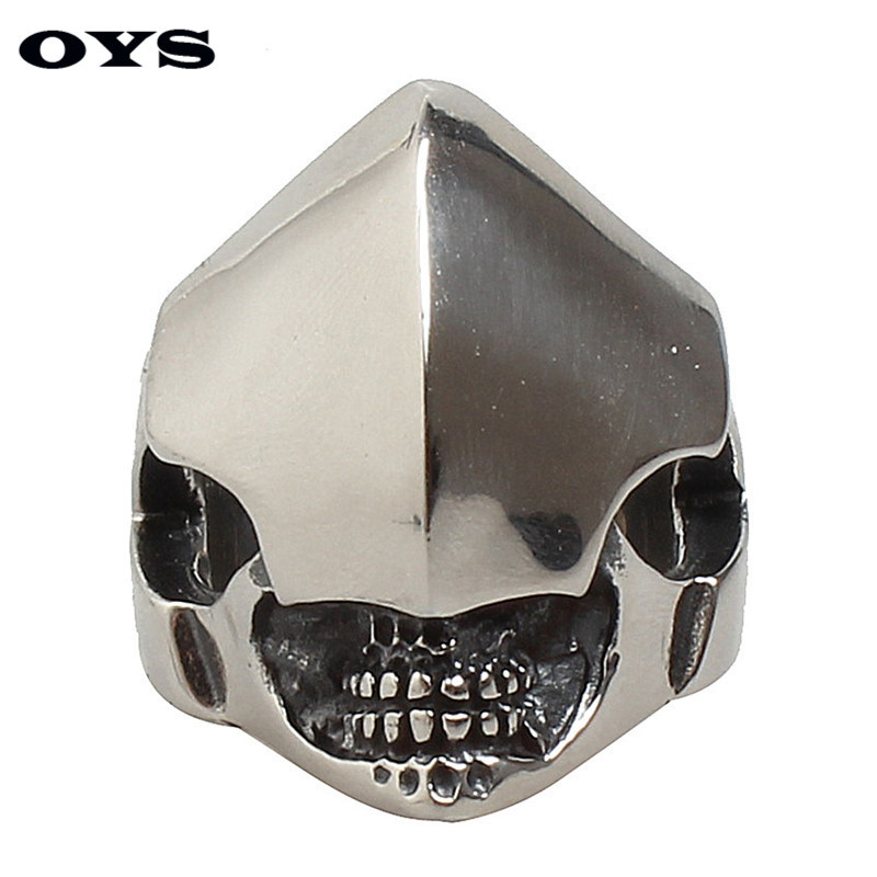 Stainless Steel Jewelry Wholesale Sales in Europe and America Unique Knight Mask Fashion Personality Titanium Ring Free Shipping