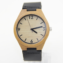 Hot Selling Japanese MIYOTA Movement Wristwatche Genuine Leather Bamboo Wooden Watches For Men And Women Bracelet
