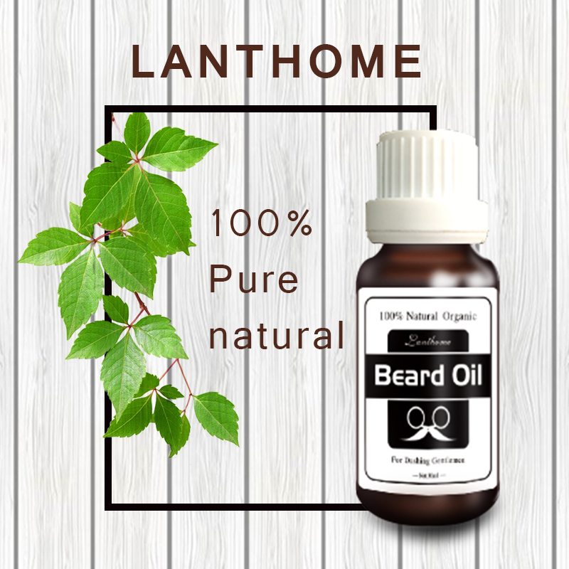 Lanthome Original Beard growth oil mustache grow stimulator 100% natural accelerate beard growth oil facial hair moisturizing 3