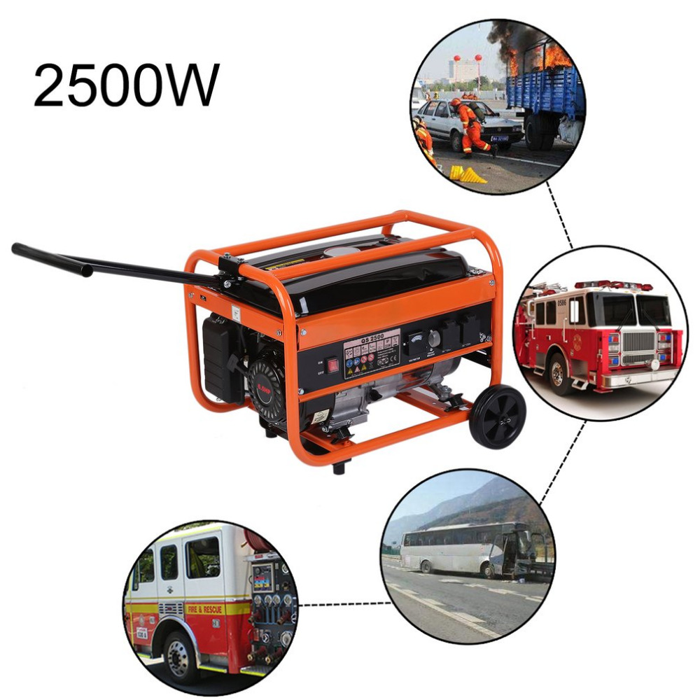 2500W Heavy Duty Portable Small Silent Low Fuel Consumption QS2500 Homeuse Petrol Generator Gasoline Engine For Boat RV