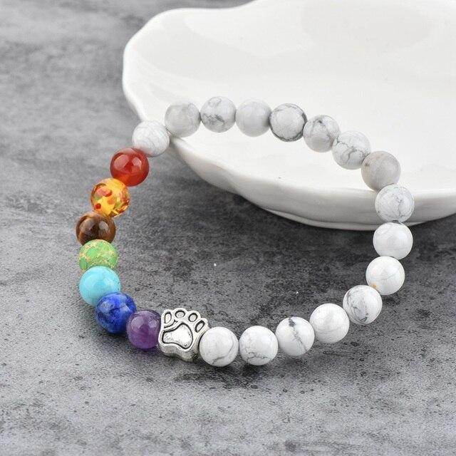 Купить браслет для йоги chicvie лапа натуральный камень бусина эластичный картинки