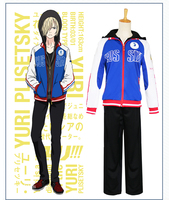 Anime YURI!!! on ICE cosplay Yuri Plisetsky cos Halloween party Unisex Everyday clothing Sportswear male female cosplay costumes