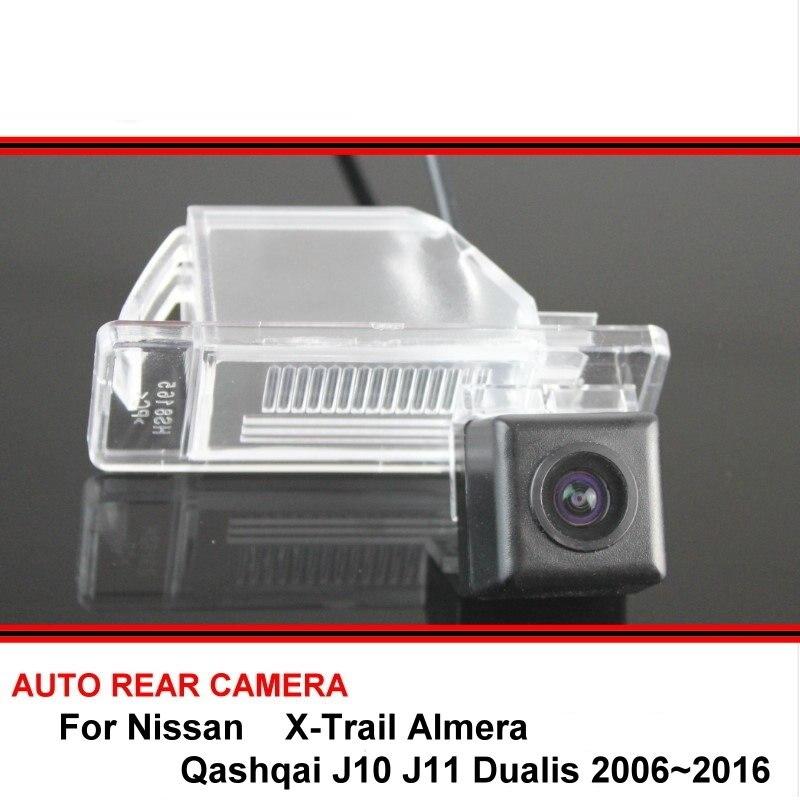 For Nissan X-Trail Almera Qashqai J10 J11 Dualis 2006~2016 Night Vision Rear View Camera Reversing Car Back Up Camera SONY HD