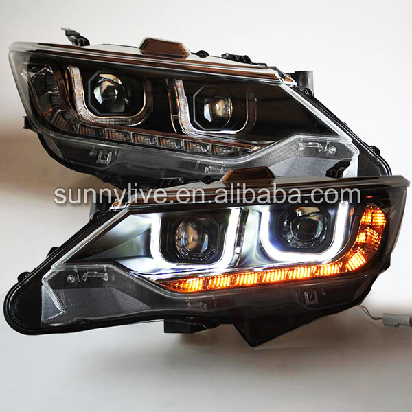LED front light for TOYOTA Camry v55 LED Head Lamps LED Headlights TLZ led strip headlights front lamps fit for toyota corolla altis 2014 2015 2016 head lamps with turn signal lamps