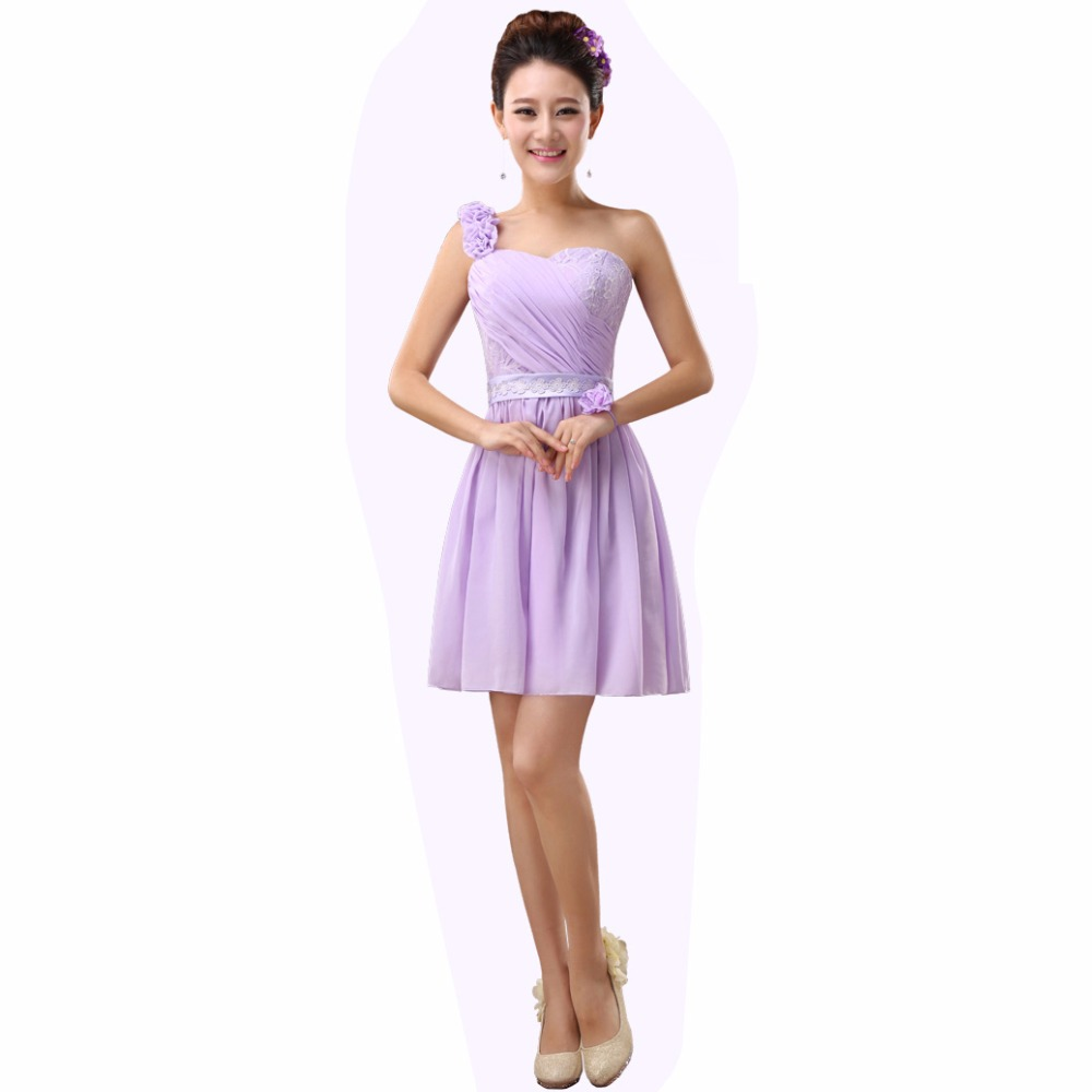 Drnwof cheap short bridesmaid dresses under 30 2017 new women drnwof cheap short bridesmaid dresses under 30 2017 new women bridal party one shoulder dress plus size champagne purple pink in bridesmaid dresses from ombrellifo Images