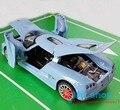 Azul/green/orange/blanco escala 1:32 tire hacia atrás diecast coche koenigsegg modelo toys de cuatro puertas con luz y sonido envío libre p45
