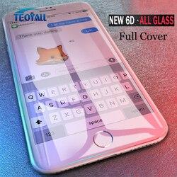 TeoYall 전체 커버 6D 가장자리 강화 유리 아이폰 7X8 6 6 초 플러스 아이폰 10 6 6 초 7 플러스 필름 보호