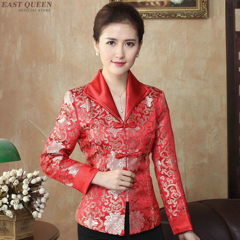 Cheongsam Top Traditional Chinese Blouse Shirt Tops For Women Mandarin Collar Oriental Asian Shirt Blouse AA3986