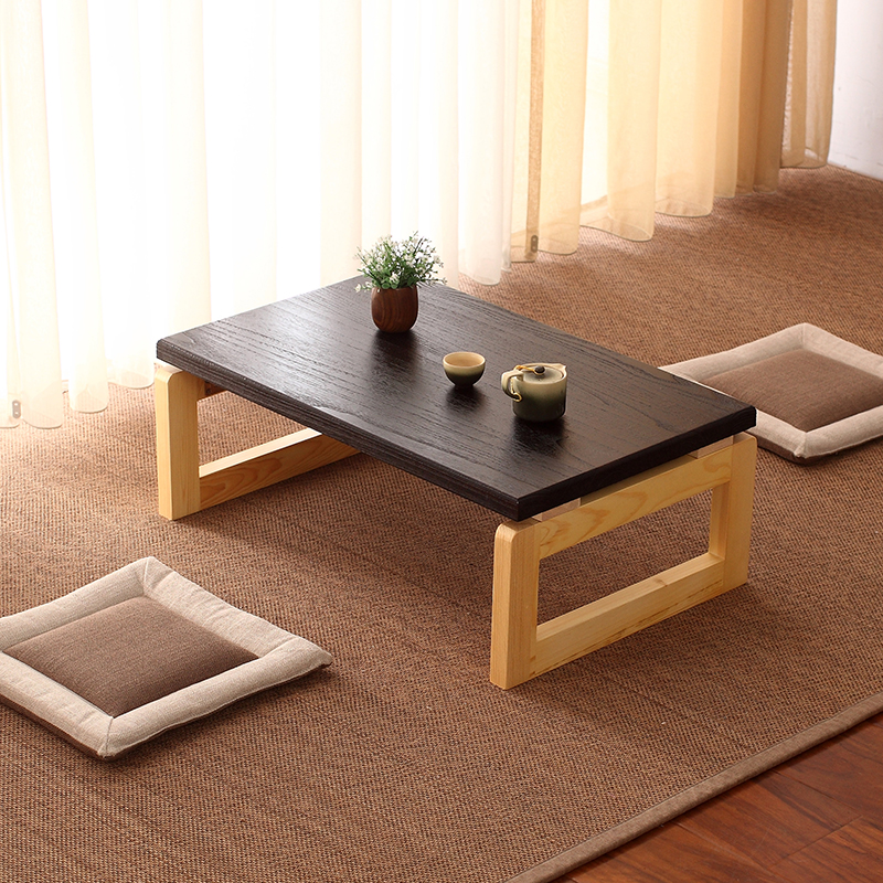 Vintage Wooden Table Foldable Legs Rectangle Living Room Furniture