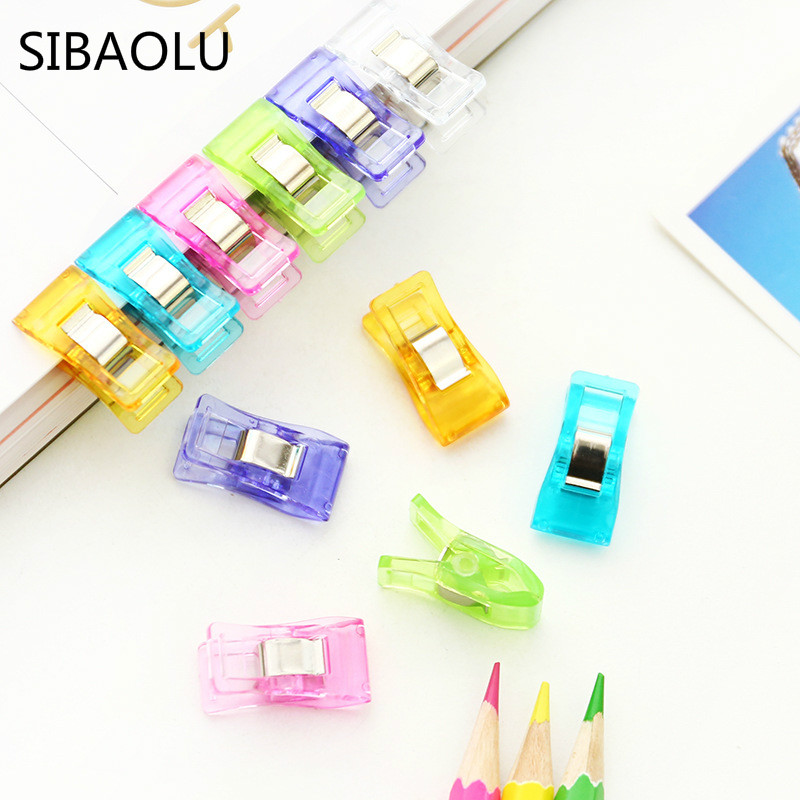 10 Pcs/lot High Quality Colorful Plastic Clips For Patch Work Sewing Crafts Quilt Clip Clover Clip Clover Wonder Clip