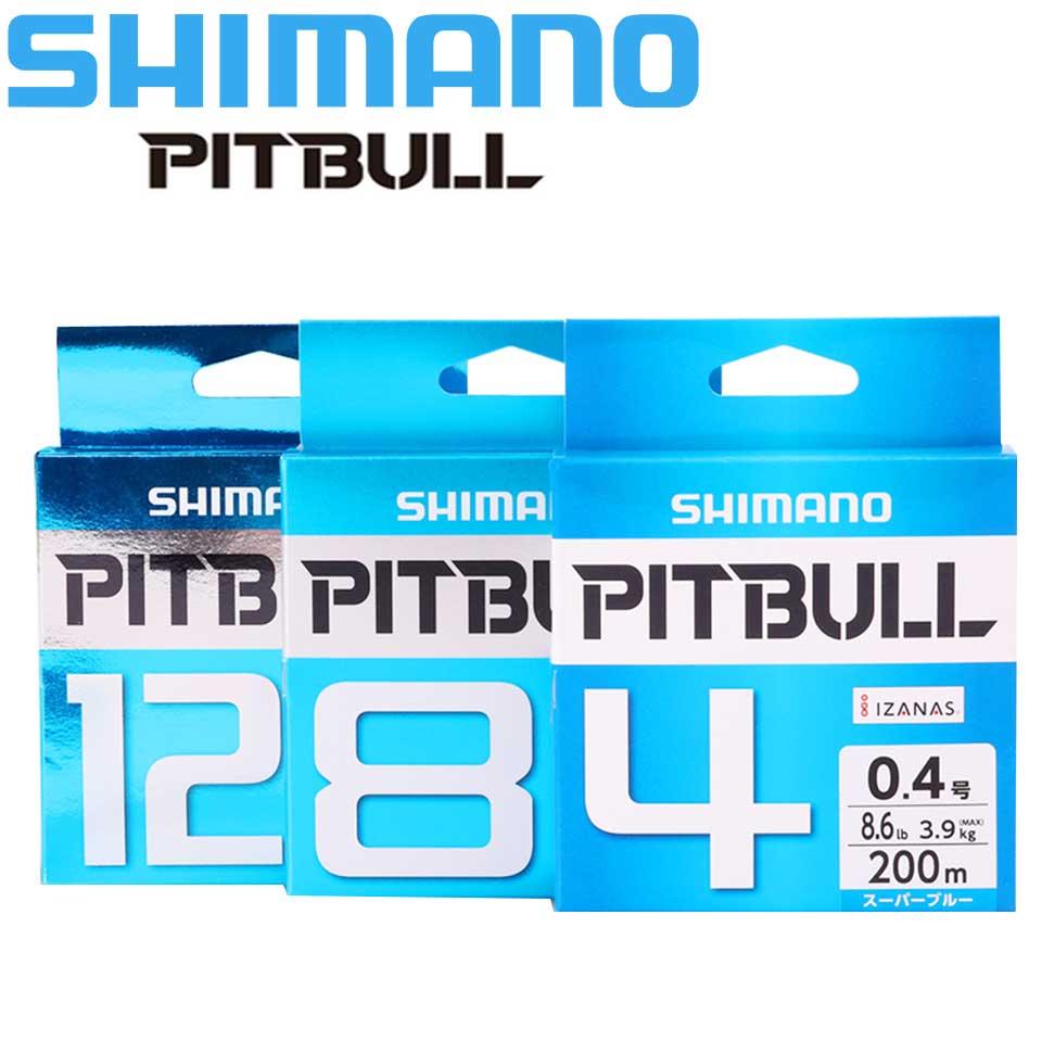 Original Linha De Pesca SHIMANO PITBULL 150M X4/X8/X12 PE Trançado Linhas De Pesca Verde/Azul feito no Japão alta resistência e Suave