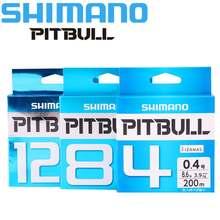 Linha de pesca shimano original, linha trançada pitbull 150m x4/x8/x12 pe, verde/azul feita no japão alta resistência e macio