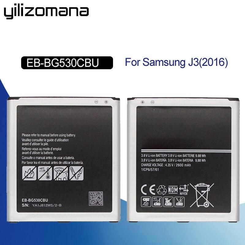YILIZOMAN Batteria Originale EB-BG530CBU EB-BG530CBE Per La Galassia Grand Prime J3 2016 EB-BG531BBE G5308W G530 G531F G530H G530F
