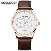 AGELOCER Mens Relógios Top Marca de Luxo Relógio Mecânico Automático Dos Homens de Moda Homens Relógios De Pulso À Prova D' Água Relogio masculino