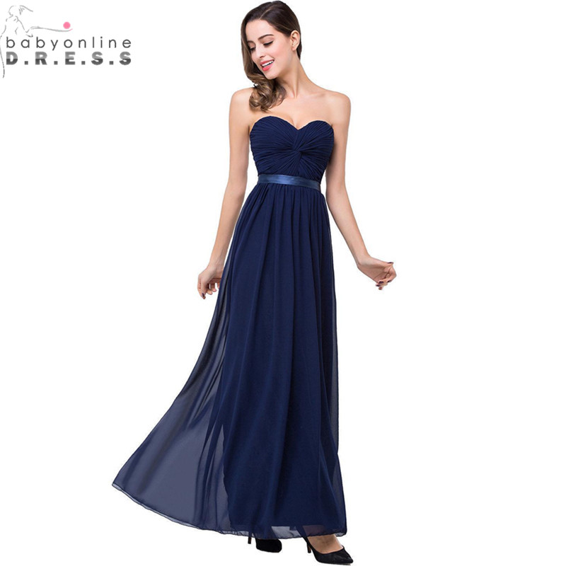 Robe demoiselle d 39 honneur backless navy blue coral colored for Colored wedding dresses 2017