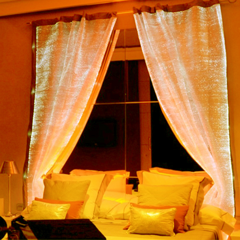 Festival DayRBG Drape Party 7 Color Shining Curtain Fiber Optic LED Night Christmas Day Party Surprise Luxurious Curtains Sheet