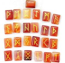 Naturalne awenturyn kryształ Onyx kamienia tygrysie oko runy wikingów Amulet zestaw Reiki kryształy terapeutyczne wróżby spadł kamienie 25pc tanie tanio FGHGF Brak Moda Kamień TRENDY Charms rectangle