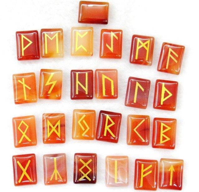 Tự nhiên Aventurine Pha Lê Onyx Đá Mắt Hổ Viking Chữ Rune Bùa Hộ Mệnh Bộ Reiki Chữa Bệnh Tinh Thể Bói Toán Búi Tó Đá 25 PC