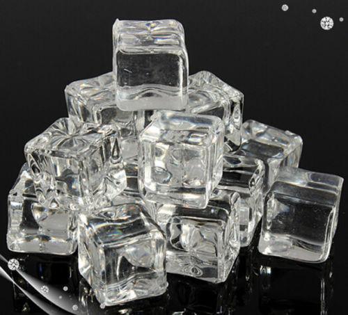 20pcs/lot 2cm 2.5cm 3cm Clear Lifelike  Fake Artificial Acrylic Ice Cubes Crystal Home Display Decor artificial cubes