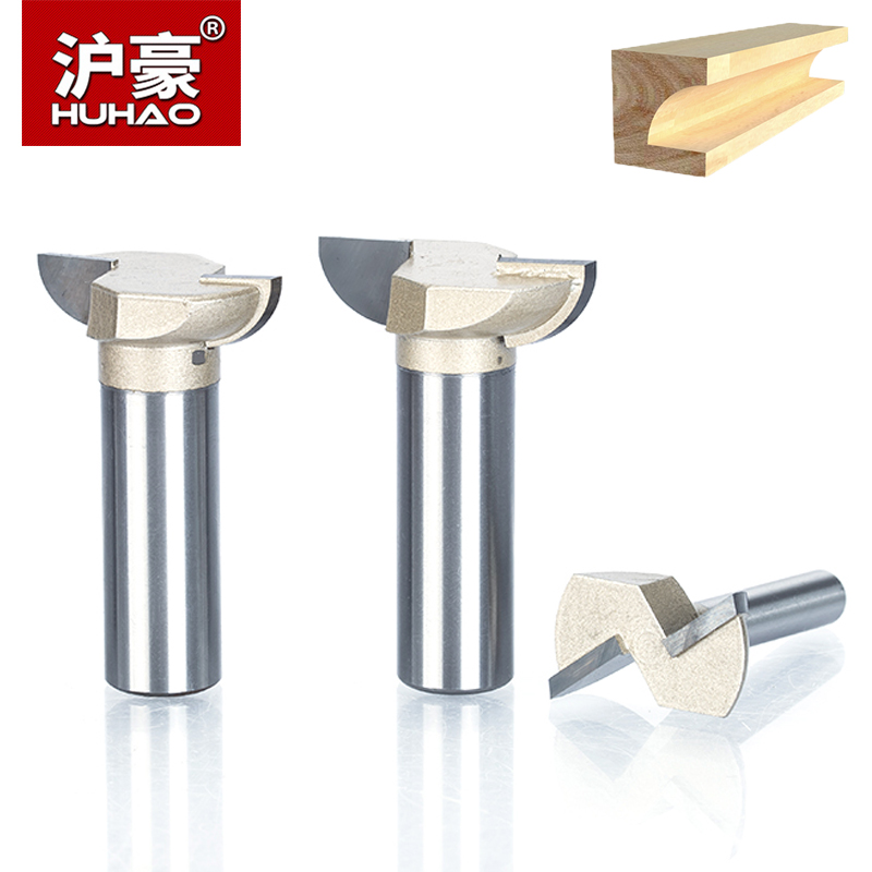HUHAO 1pc 1/4 1/2 Shank Cove Bit With Bearing Woodworking Tool 2 Flute Trimming Router Bits For Wood Endmill Milling Cutter best price 1 2 inch hss milling bits shank round nose cove core box router bit shaker cutter tools for woodworking