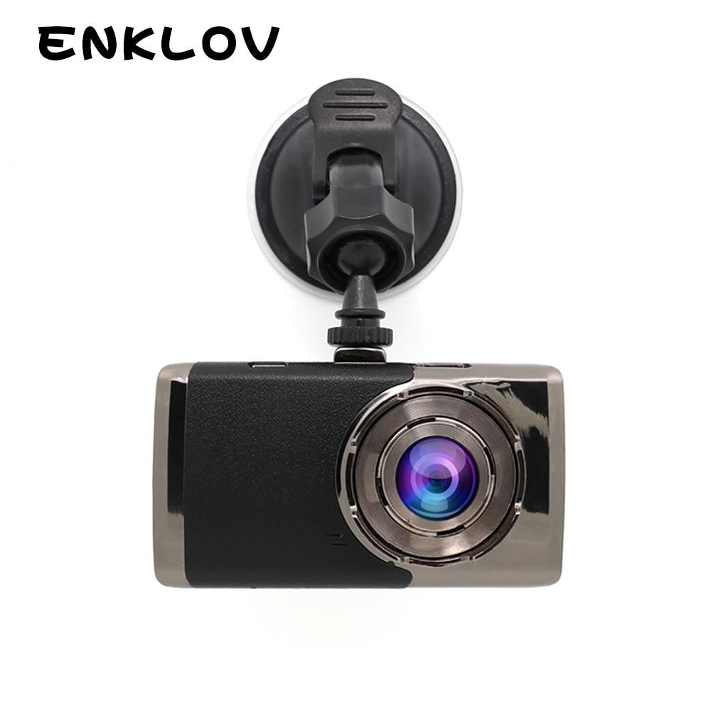 ENKLOV Super Night Full HD 1080P Car DVR 155-degree Wide-angle Dash Cam 3.0-inch IPS HD Screen Car Camera G-Sensor Car Rec