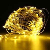 Mising Koperdraad/Zilveren draad 10 M 100 LED String Light Kerst LED Fairy Licht Wedding Party Decor Outdoor licht
