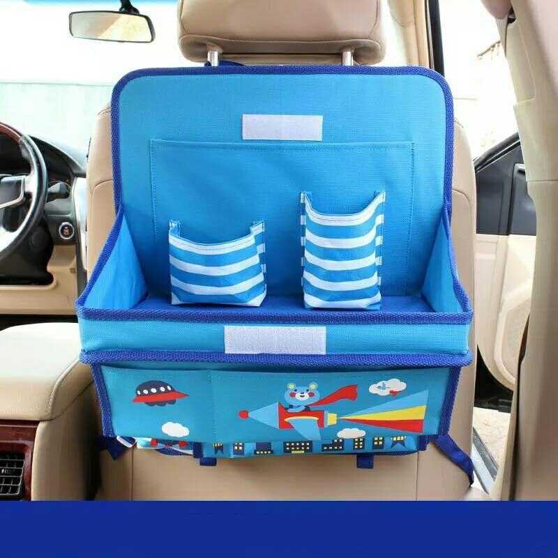 Organizador Para Oxford Crianças Dos Desenhos Animados do carro Caixa de Organizador De Armazenamento Organizadores Auto Back Seat Criança Mesa de Jantar Acessórios Do Carro