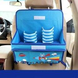 Auto Organizzatore Per I Bambini Oxford Fumetto Auto Organizzatori Sedile Posteriore Tavolo Da Pranzo Bambino Scatola di Immagazzinaggio Organizador Accessori Auto