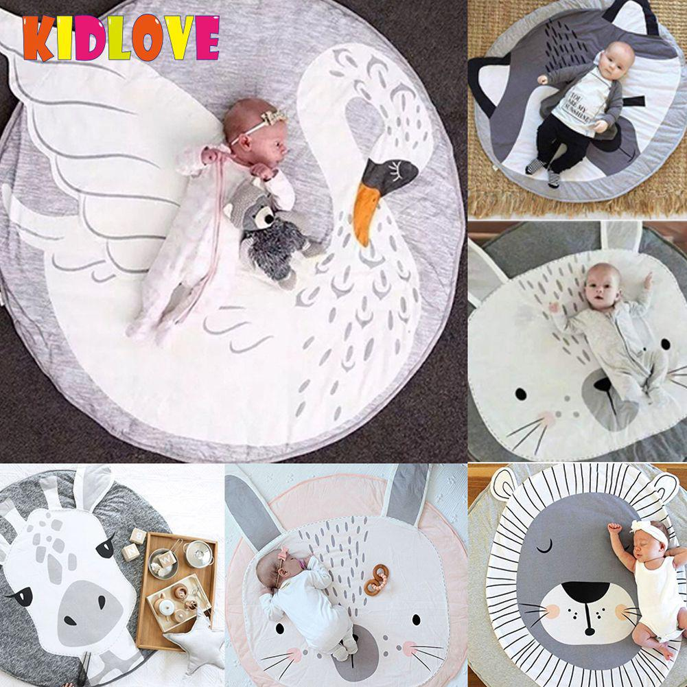 Baby Gyms & Playmats New Fashion Kidlove Cute Baby Infant Crawling Activity Pad Round Kids Crawling Carpet Rabbit Blanket Cotton Game Pad Children Room Decor Activity & Gear
