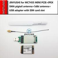Sierra MC7455 MINI PCIE+MINI PCIE USB Adapter+IPEX SMA pigtail Antenna+5dbi SMA Antenna LTE CAT6+GNSS