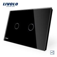 LIVOLO Wall Switch 2 Gang 2 Way VL C902S 12 US AU Touch Screen Light Switch