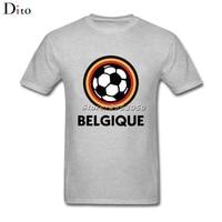 Football Emblem Of Belgium Tee Shirt Men Man S Tailored Short Sleeve Fashion Custom XXXL Couple