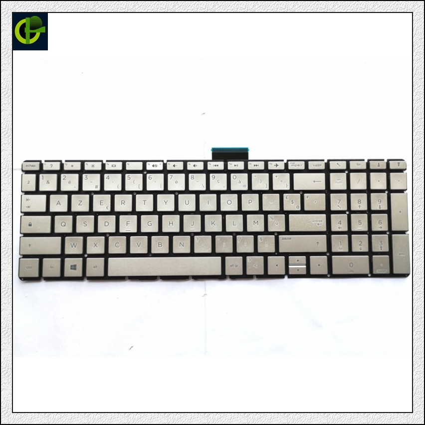 French Azerty <font><b>Keyboard</b></font> for <font><b>HP</b></font> 15-BS 15-BW <font><b>250</b></font> <font><b>G6</b></font> 255 <font><b>G6</b></font> 256 <font><b>G6</b></font> 258 <font><b>G6</b></font> silver FR image