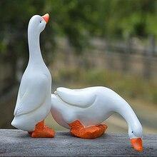 4 шт. яркая мини Статуэтка лебедя для матери и ребенка, скульптура для улицы, дома, сада, двора, украшение для пруда, воды