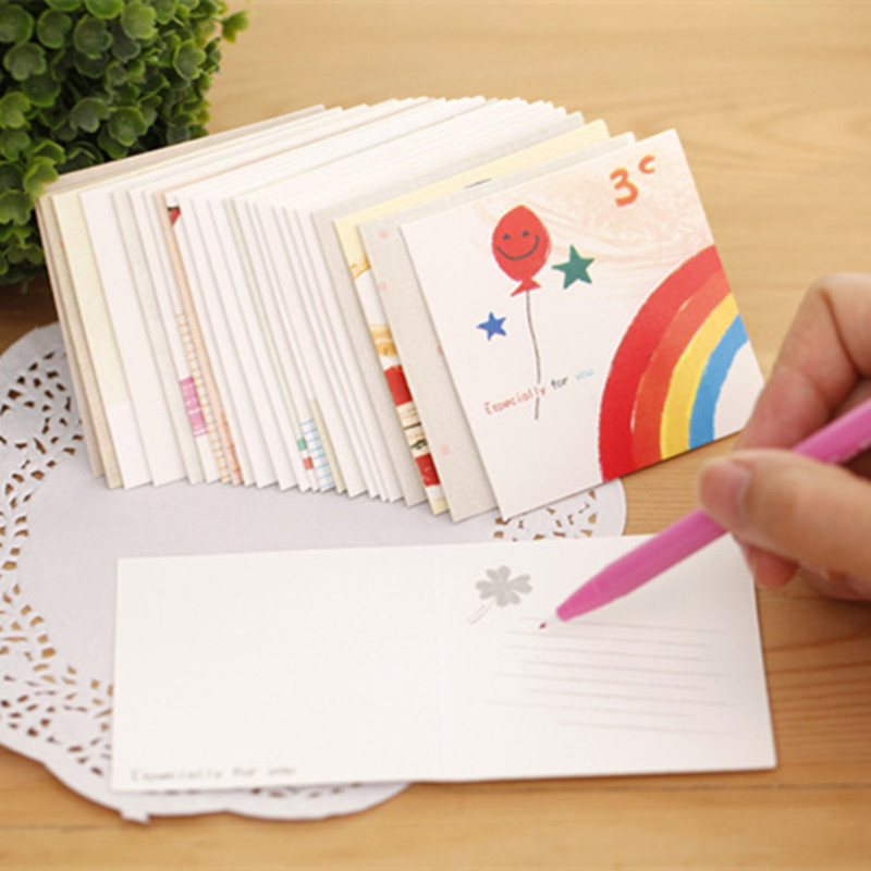 Korean Birthday Card Greeting Cards Mini Message Card
