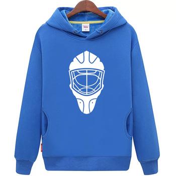 Fajne hokej na lodzie darmowa wysyłka tanie młodzieży granatowy hokej na lodzie bluza z kapturem z hokeja na lodzie wzór maski tanie i dobre opinie Chłopcy Flexible Pasuje mniejszy niż zwykle proszę sprawdzić ten sklep jest dobór informacji cool hockey